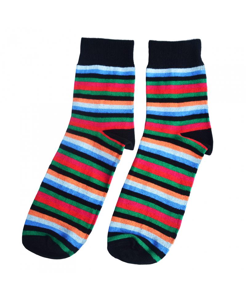 The Multicolor Stripe Sock